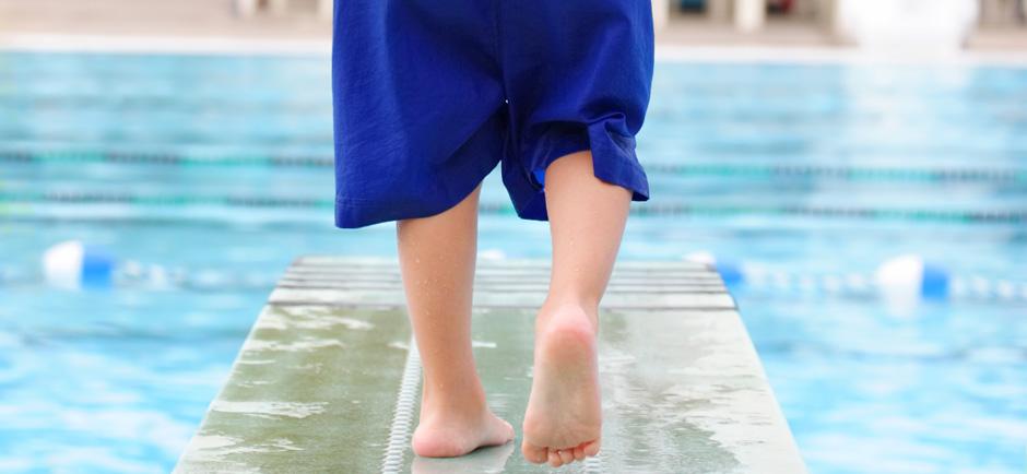 Emily's Swim School - Boy on Pool Diving Board
